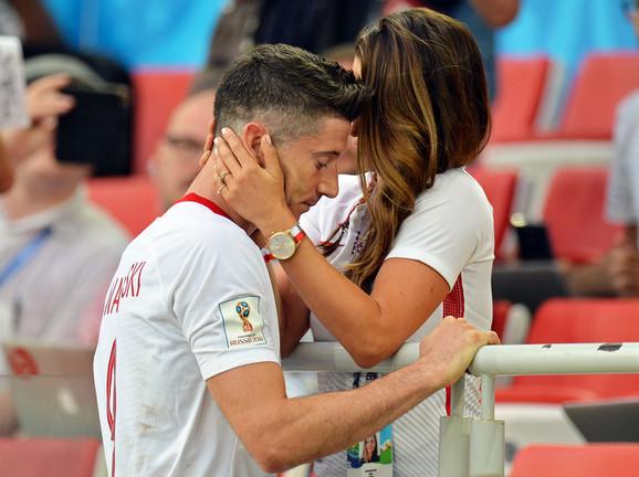 Robert i Ana Levandovski na Svetskom prvenstvu u Rusiji