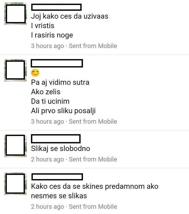 Poruke koje je M.M. slao devojčici