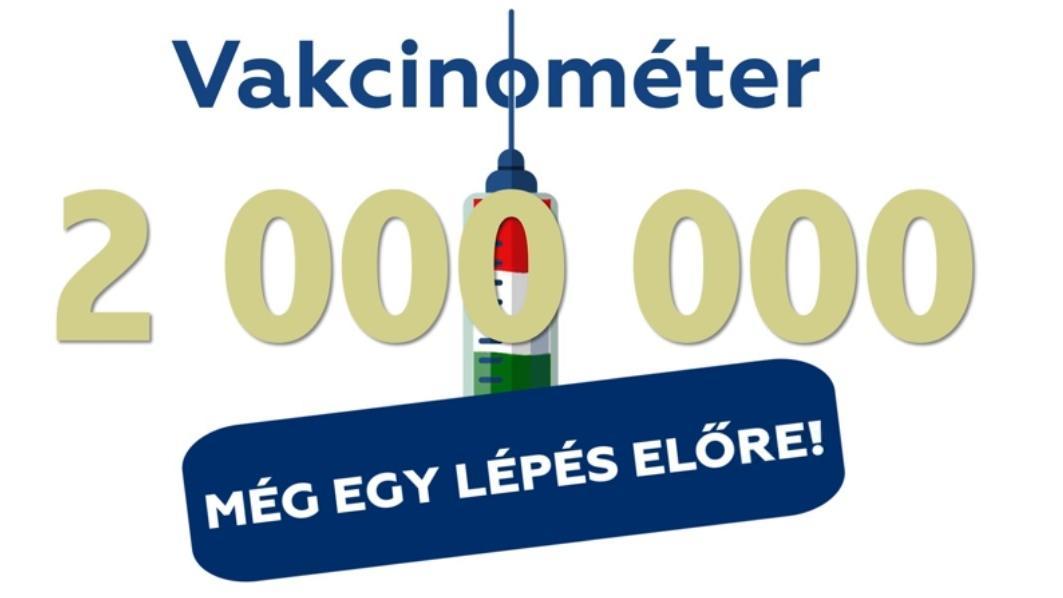 Végre itt a bejelentés: elérte a kétmilliót a beoltottak száma Magyarországon