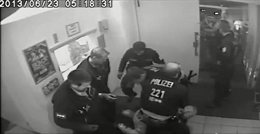 Policja bije uczestnika dyskoteki