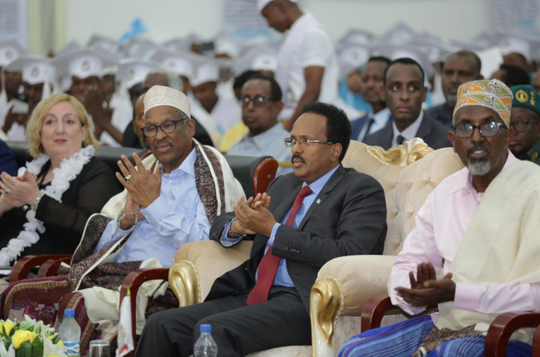 President Farmajo attending the Somali National University Graduation.