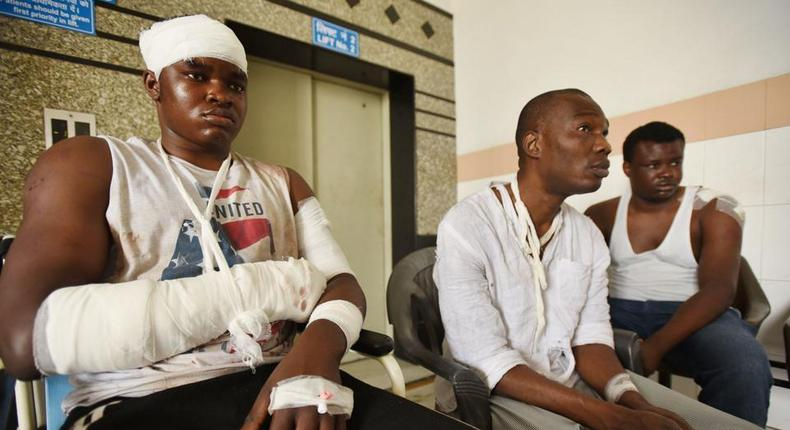 Endurance Amarawa, Ibgiya Malu Chukwuma and Precious Amalsima at a hospital in India