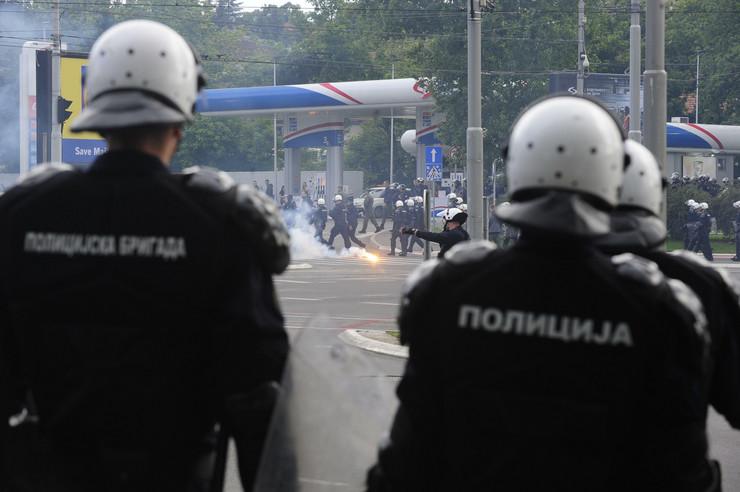 Dolazak navijača Partizana