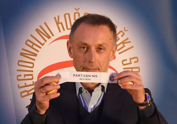 Trener Crvene zvezde Milan Tomić izvukao je drugi par, Partizan - OKK Novi Pazar