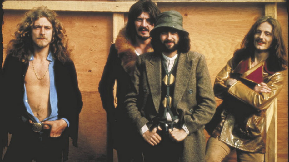 Led Zeppelin 1969 r. Robert Plant, John Bonham, Jimmy Page, John Paul Jones