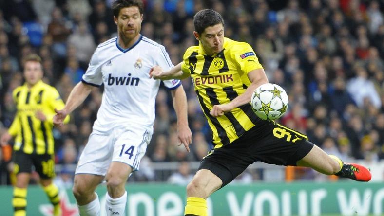 Real Madryt - Borussia Dortmund: Robert Lewandowski (P)