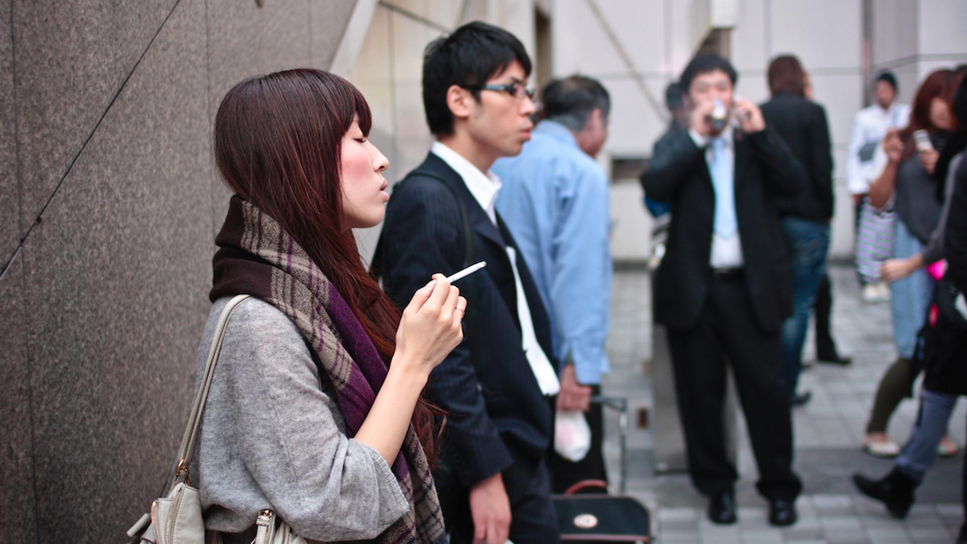Japonský fajčenie videá