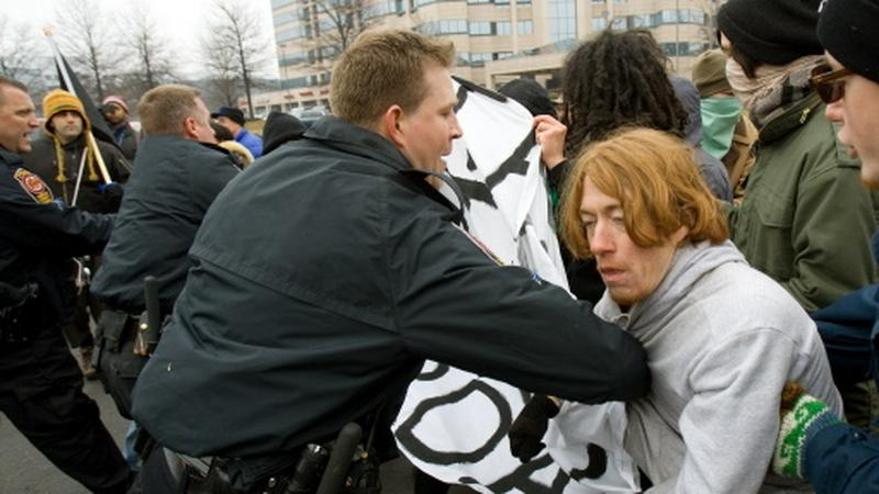 Protest neonazistów, fot. AFP