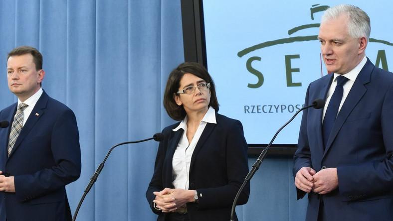 Mariusz Błaszczak, Anna Streżyńska i Jarosław Gowin