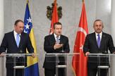 Ivica Dačić sa ministrima inostranih poslova Turske i BiH Mevlutom Čavušogluom i  Igor Crnadakom, foto tanjug, f. kraincanin