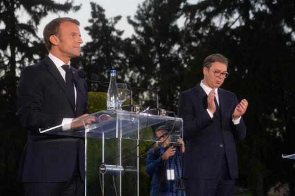 Aleksandar Vučić i Emanuel Makron na Kalemegdanu