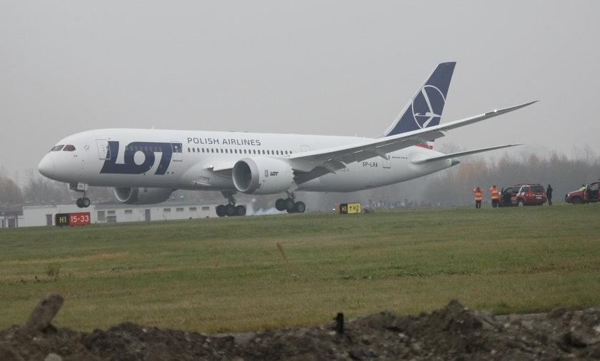 Polski samolot trafiony piorunem