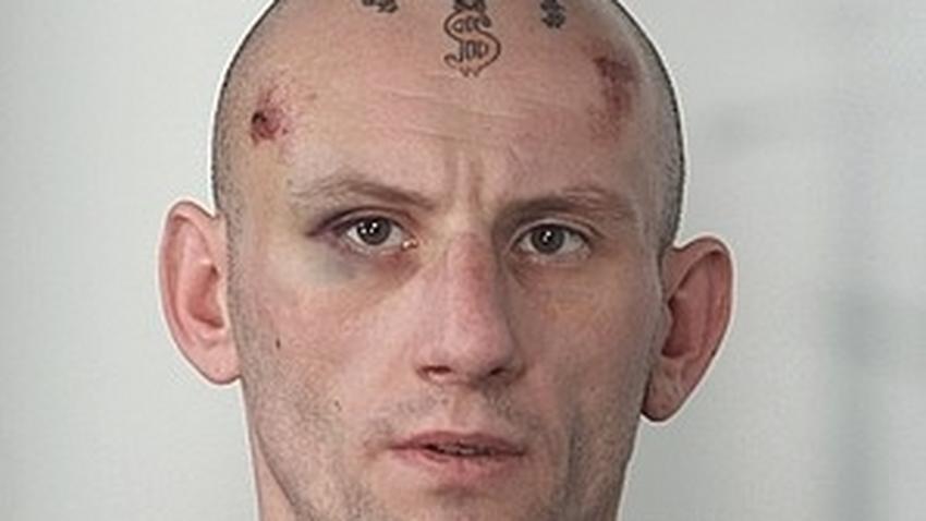 Złodziej Z Dolarem Na Czole Tatuaż Dolara Na Czole