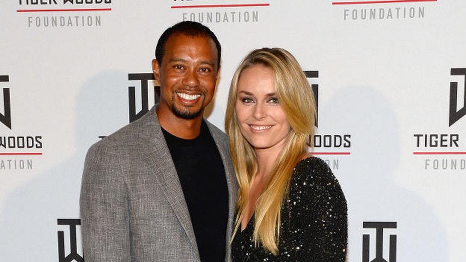Tiger Woods z Lindsey Vonn w 2014 roku