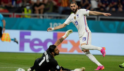 Karim Benzema scored his first goals for France since October 2015 Creator: Darko Bandic