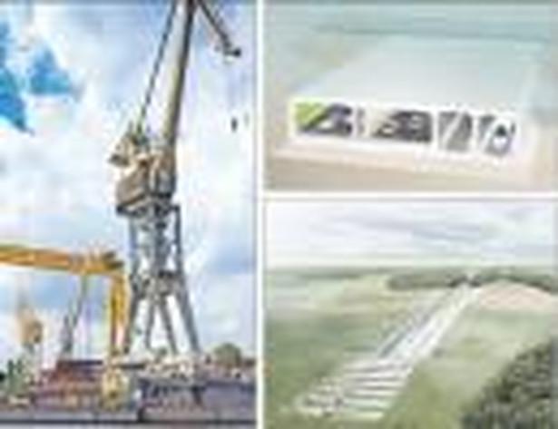 Kontrakt na części do tunelu (wizualizacje z prawej) mógł dać pracę 1000 stoczniowcom Fot. Marek Maruszak/Forum, mat. prasowe (2)