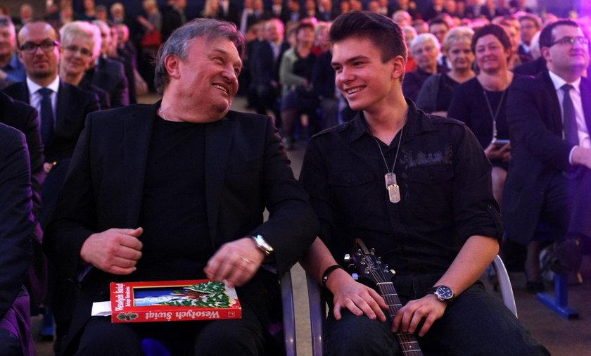 Krzysztof Cugowski z synem