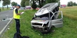 Straszny wypadek busa pod Łukowem. 14 rannych