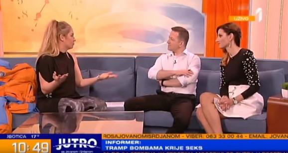 Jovana i Srđan sa Hristinom Popović