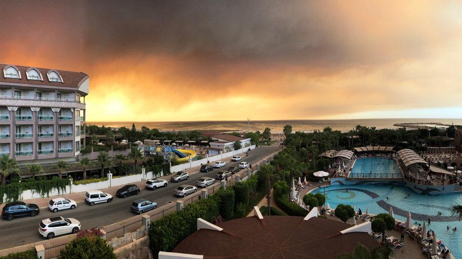 Pożar lasu w Manavgat, Antalya, Turcja, 29 lipca 2021 r.