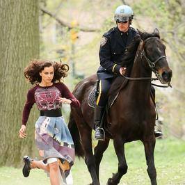 Irina Shayk biega po Central Parku