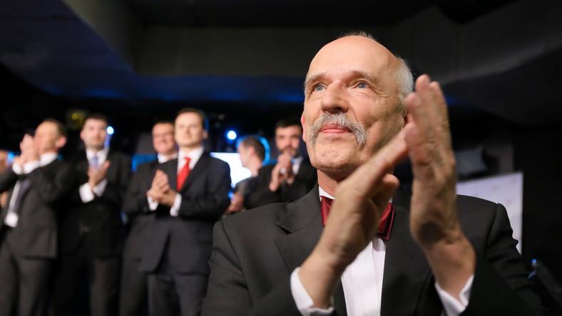 Janusz Korwin-Mikke zadowolony z wyników eurowyborów