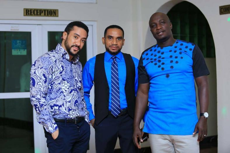 Majid Michel, Pascal Amanfo and Timothy Bentum