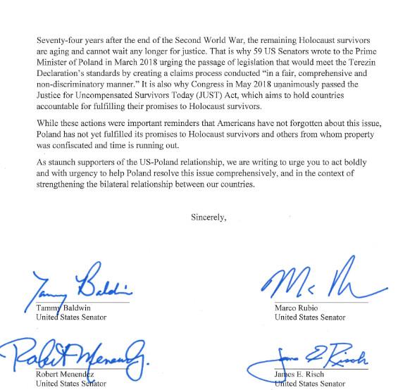 List senatorów