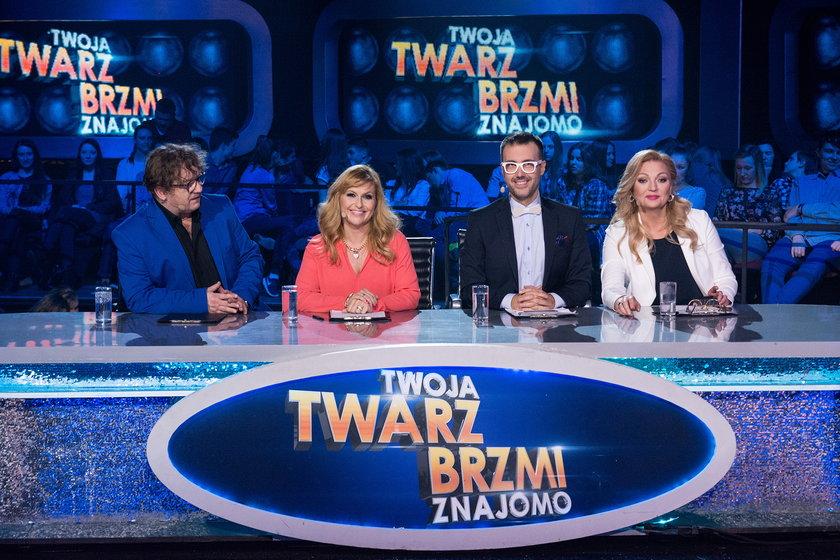"""Jury """"Twoja twarz brzmi znajomo"""" - Katarzyna Skrzynecka, DJ Adamus, Paweł Królikowski, Małgorzata Walewska"""