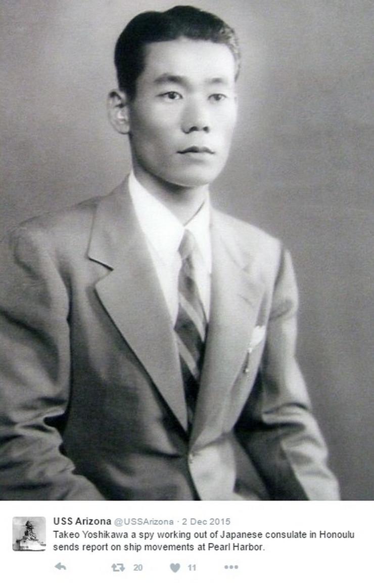 Takeo Jošikava, Japan, Špijun