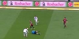 Piłkarz powalił sędziego na ziemię! WIDEO