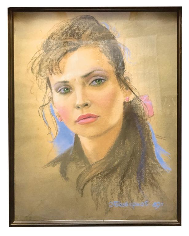 Portret Eleonory Reviny namalowany w 1989 r. Miała wtedy 27 lat