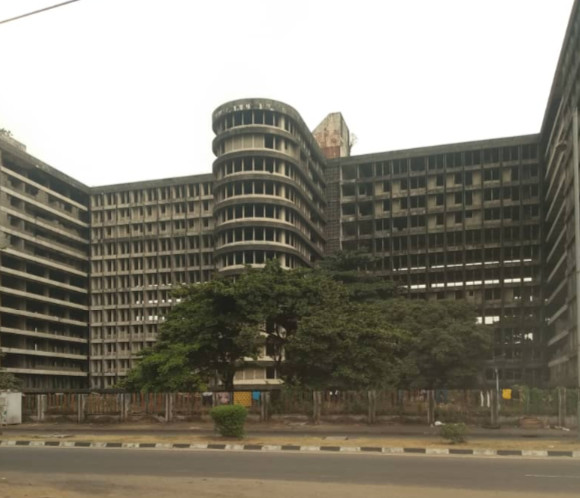 Uncompleted Federal Government Secretariat in Ikoyi Lagos. (Pulse)