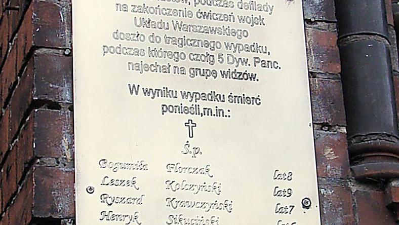 Tablica pamiątkowa na murze Szkoły Podstawowej Nr 1 przy alei Piastów w Szczecine, fot. Wikimedia Commons