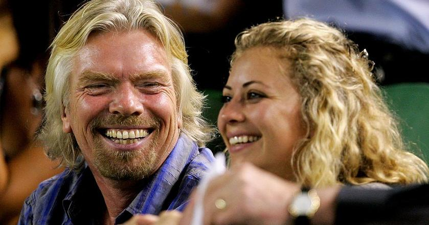 Richard Branson z córką Holly Branson