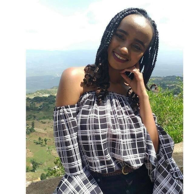 Moi University med student Ivy Wangechi who was hacked to death at the Moi Teaching and Referral Hospital (Twitter)