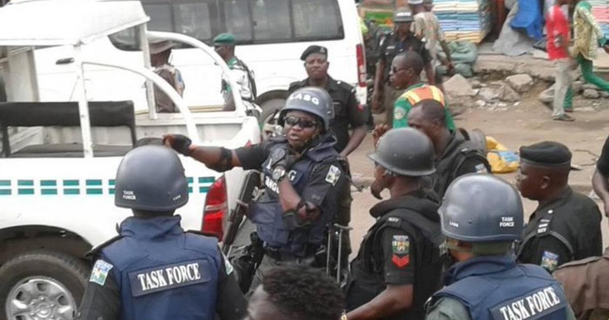 Lagos Task Force arrests suspects at Alausa, African Shrine - Pulse Nigeria