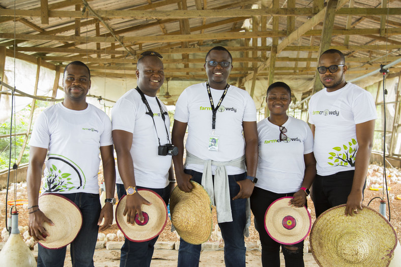 Members of the Farmcrowdy team