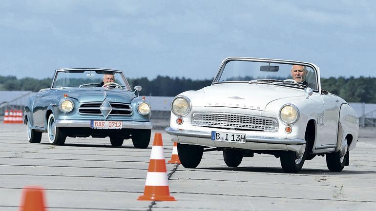 Wartburg Sport kontra Borgward Isabella Cabrio - wyprzedzić bez doganiania