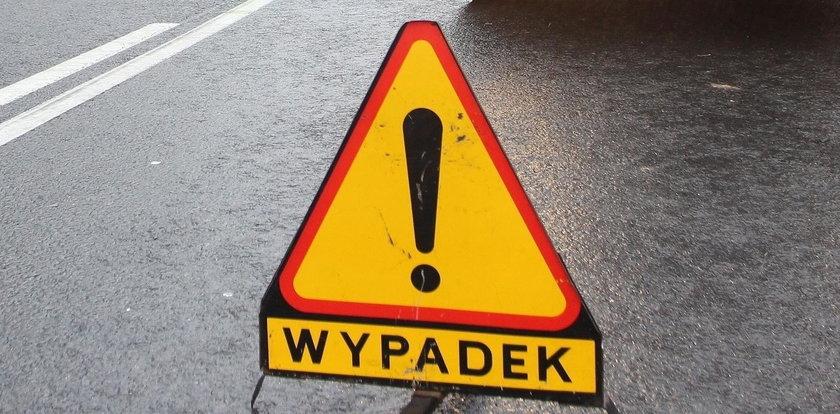 Wypadek w Chojewie. Auto stanęło w płomieniach