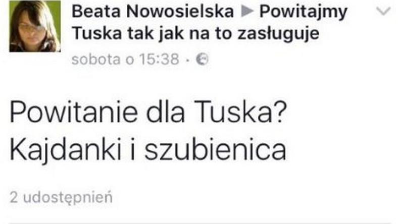 Wpis Beaty Nowosielskiej
