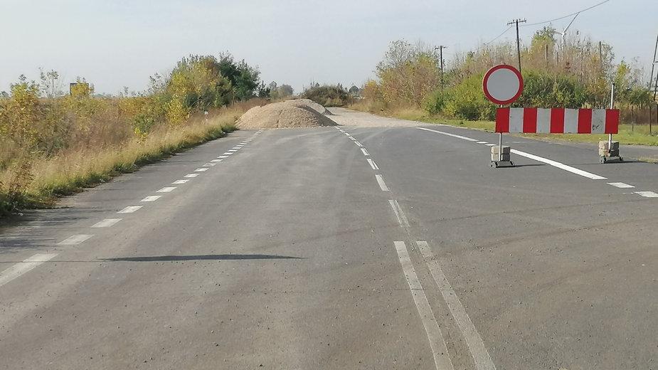 Krośniewice - koniec ul. Poznańskiej