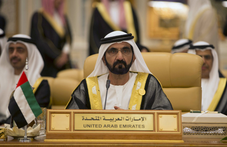 Sheikh Mohammed bin Rashid Al Maktoum, Prime Minister and Vice-President of the United Arab Emirates and ruler of Dubai, attends the Summit of South American-Arab Countries, in Riyadh November 10, 2015.