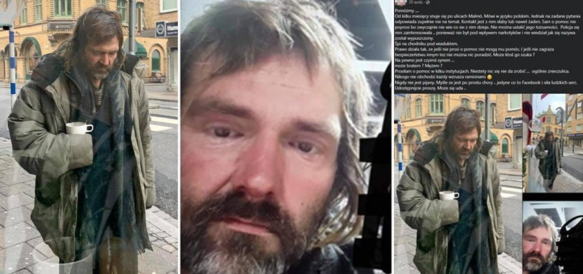 Ten apel łamie serca. Kim jest bezdomny Polak z Malmö?