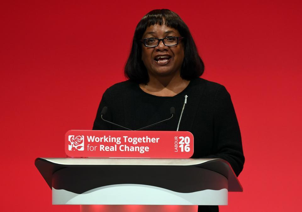 Wygrana: Diane Abbott - Partia Pracy