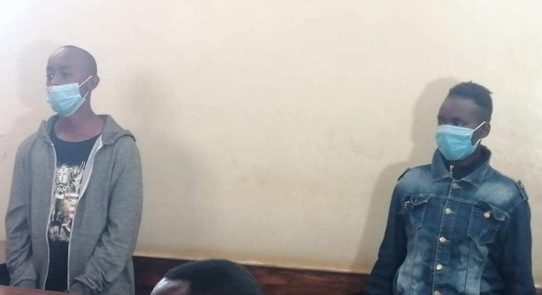 Lawrence Simon Warunge Njoroge with girlfriend Sarah Muthoni when they appeared in court on January 11, 2021