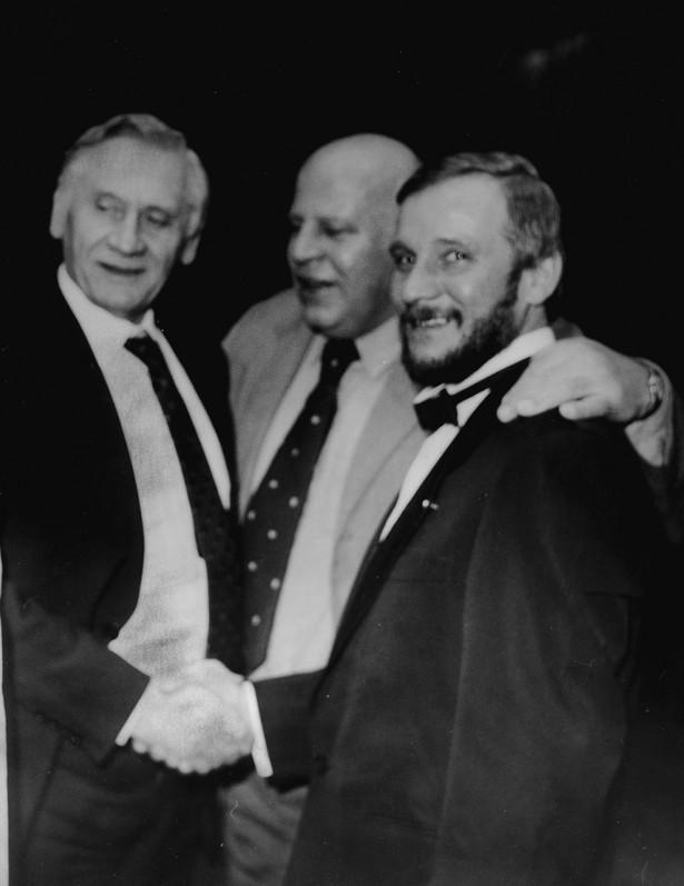 Kazimierz Górski, Krzysztof Blauth i Jerzy Kukuczka na Balu Mistrzów Sportu