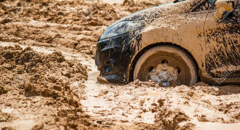 Vocal senator stuck in mud, comes face to face with the plight of residents (video)
