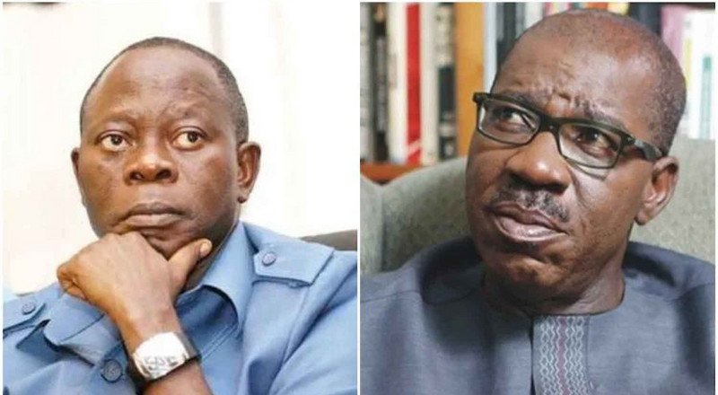 Obaseki: 'If Oshiomhole doesn't stay on his lane, I'll show no mercy'