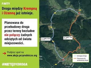 #nietędydroga: Magurski Park Narodowy dla pieszych i rowerzystów. Nie dla samochodów